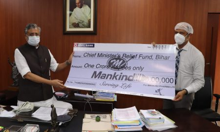 """Speaking on the occasion, Mr. Rajeev Juneja, CEO, Mankind Pharma, said, """"This is one of the most challenging periods that our country is undergoing today when people in Assam and Bihar are facing devastating floods"""