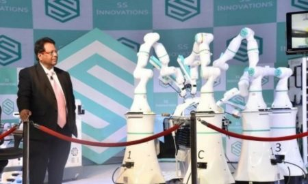 Robo Surgeons Get Their Mantra SS INNOVATIONS LAUNCHES SSI MANTRA, India's First Medical Robotics Surgery System with a Human Pilot Study with 18 Procedures at RGCI
